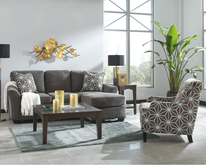 Ashley Brise Slate Rent To Own Sofa Loveseat E Z Rentals