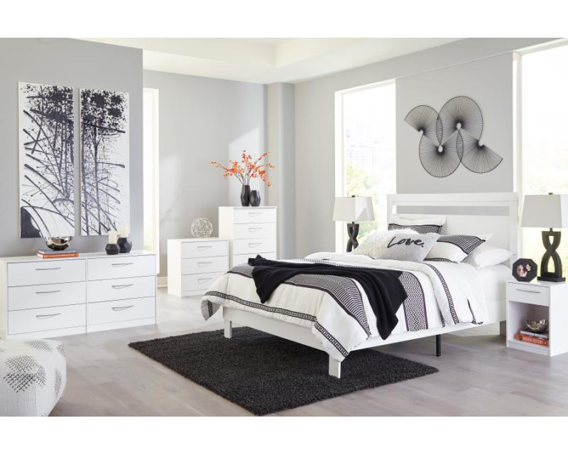 Flannia White Queen Bedroom Set, White Bedroom Furniture Set Queen